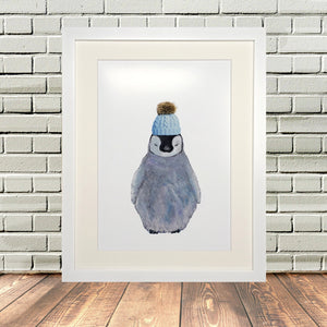 Baby Penguin Painting Print