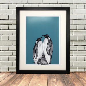 Penguin Gifts 'Penguin Family Print'