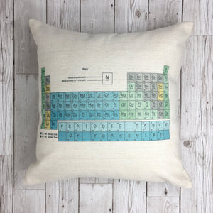 Funny Yorkshire Gift 'Periodic Cushion'