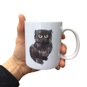 Painted Cat Mug (Can be personalised)