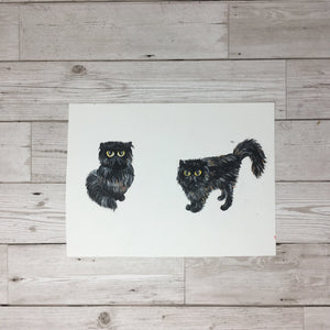 Persian Cat Painting Original Artwork