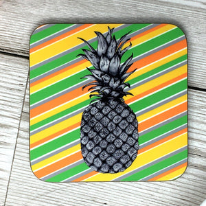 Pineapple Tropical Stripes Coaster