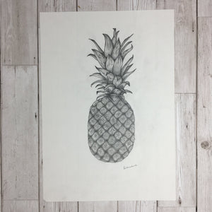 Pineapple Sketch Original Artwork
