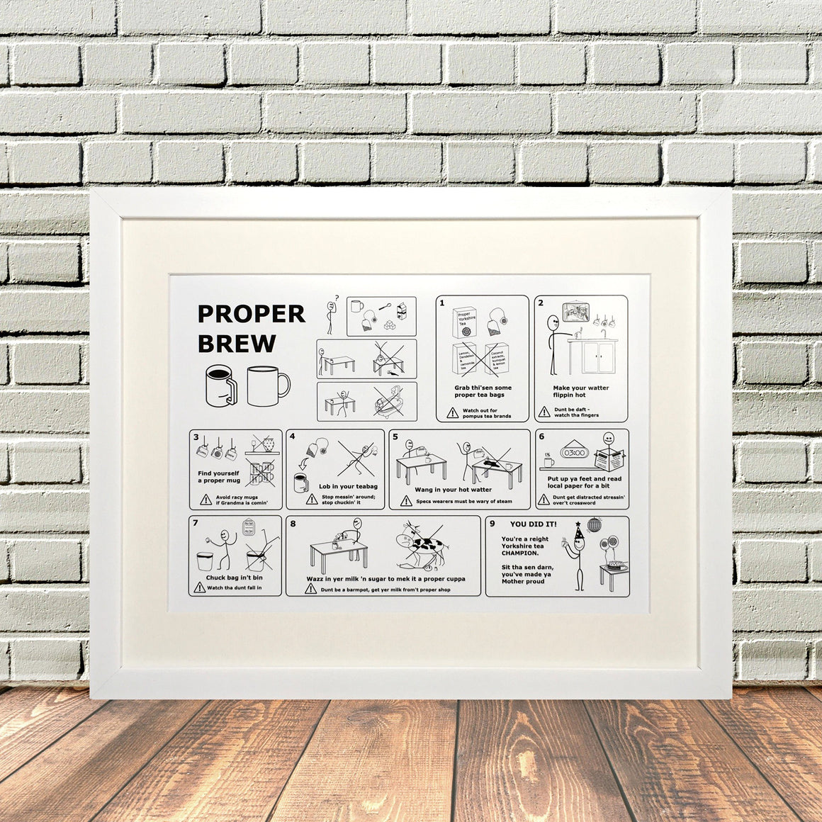 Funny Yorkshire Gifts 'Yorkshire Tea Print'