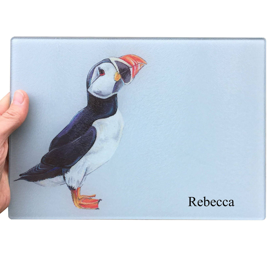 Puffin Glass Chopping Board
