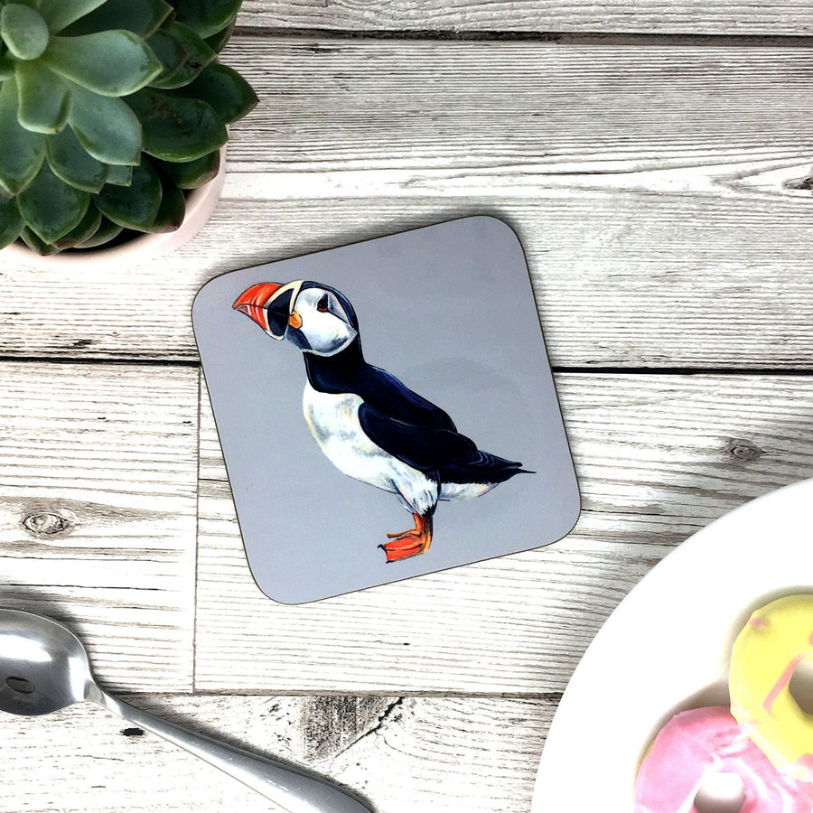 Painted Puffin Mug (Can be personalised)