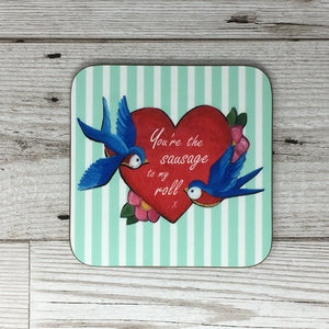 Love Tattoo Valentines Yorkshire Coaster