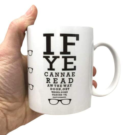Scottish Eyetest Optician Funny Mug
