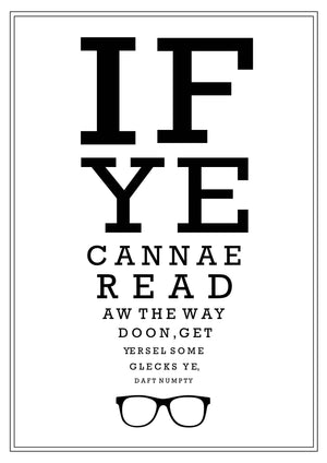 Scottish Optician Eyetest Print