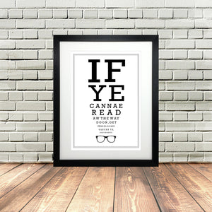 Scottish Eyetest Print