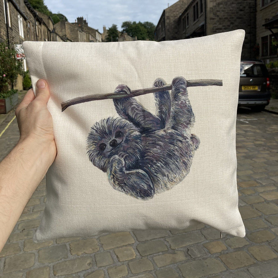 Sloth Painted Cushion