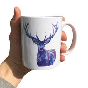 Painted Stag Mug (Can be personalised)