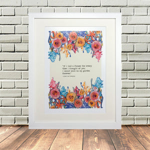 Tennyson Painted Flowers Print