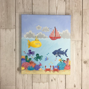 Underwater Children's Painting Original Artwork