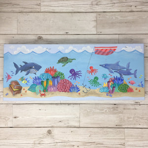 Underwater Children's Shark Painting Original Artwork