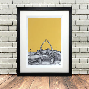 Whitby Sketch Print Art Picture