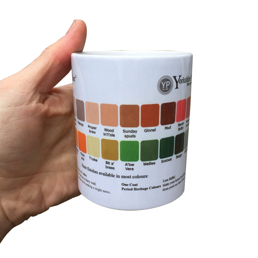 Yorkshire Paint Chart Decorator Mug