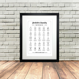 Yorkshire washing Laundry Funny Dialect print