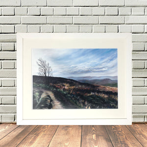 Yorkshire Penistone Hill in Haworth Framed print