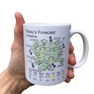 Yorkshire Weather Map Mug