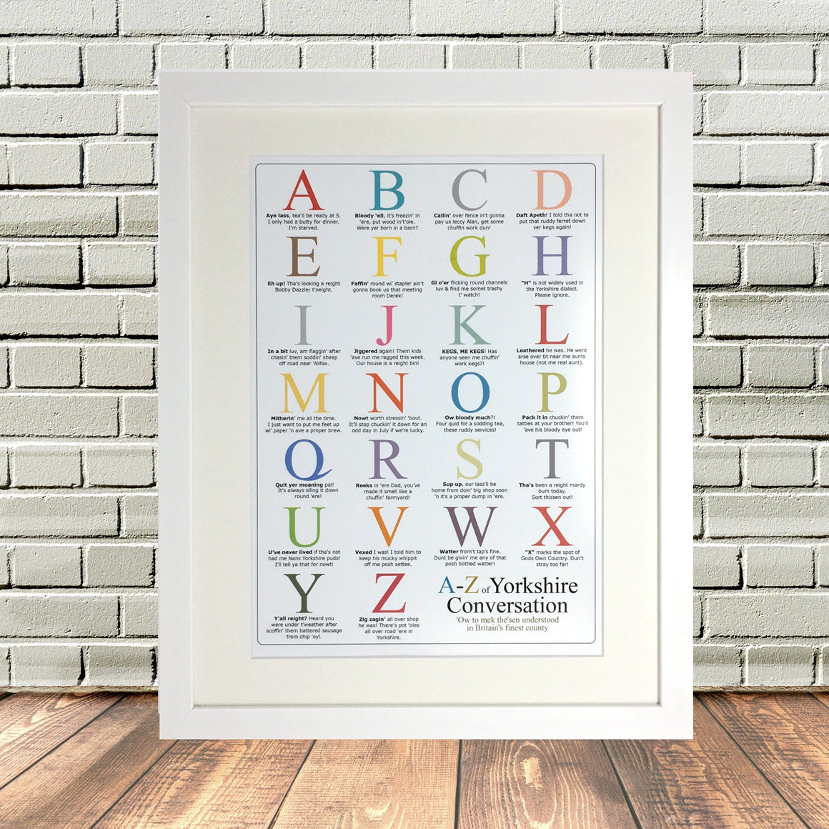 Funny Yorkshire A to Z Print