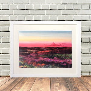Yorkshire Moorland in Heather Framed print
