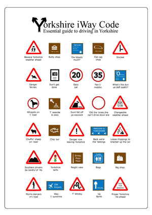 Funny Dialect Yorkshire Highway Code