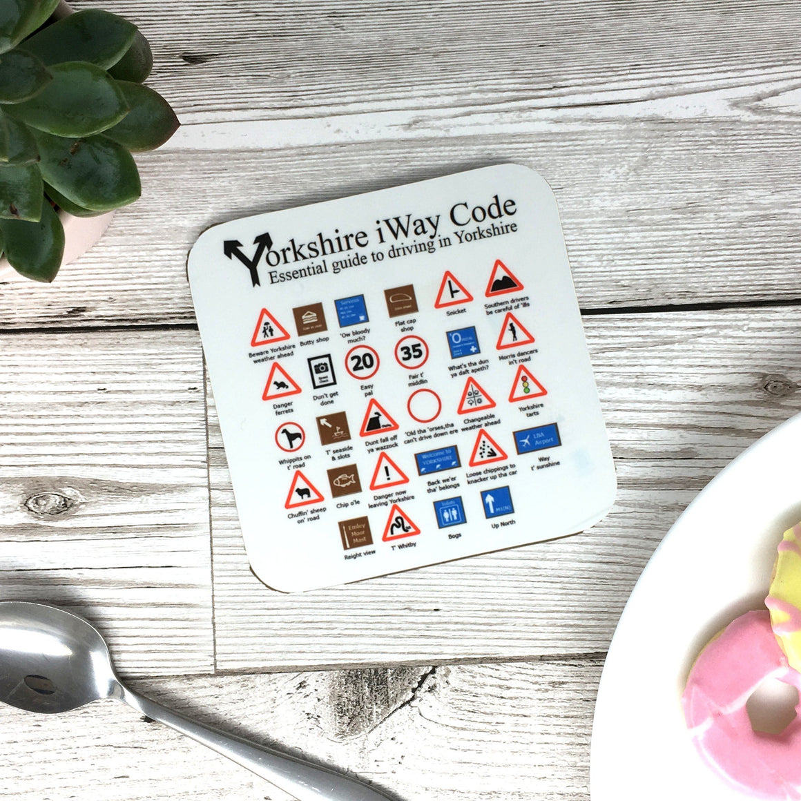 Yorkshire Highway Code Coaster Funny