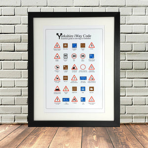Funny Yorkshire Highway Code Road Print Art