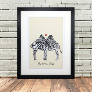 Zebra Sketch Print Personalised