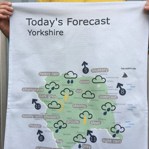 Yorkshire Tea Towel 'Weather Map