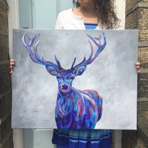 Colourful Stag Print