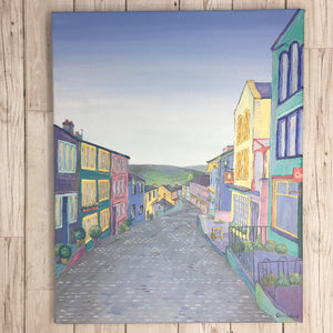 Haworth Portrait Main Street Painting Original Artwork