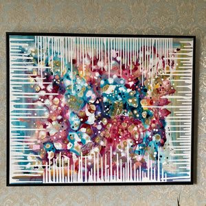 Colourful Abstract Gold Leaf Original Artwork