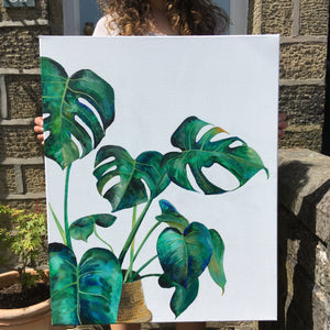 Monstera Cheese Plant Original Artwork