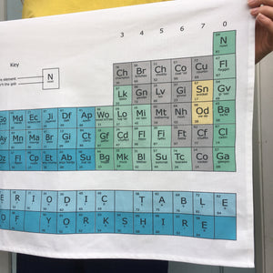 - Yorkshire Funny tea towel 'Yorkshire periodic table'