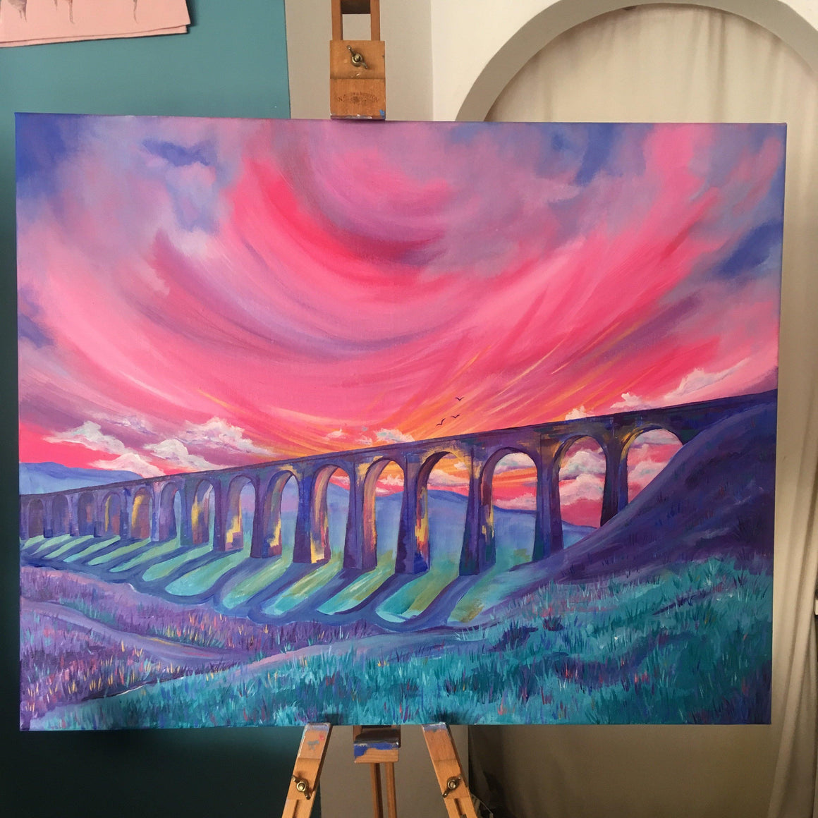 Ribblehead Viaduct Yorkshire Original Artwork