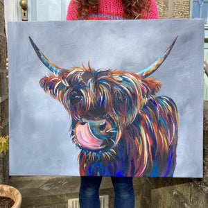 Agnes Highland Cow Original Artwork