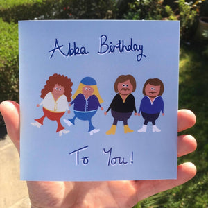 Abba Birthday Greeting Card