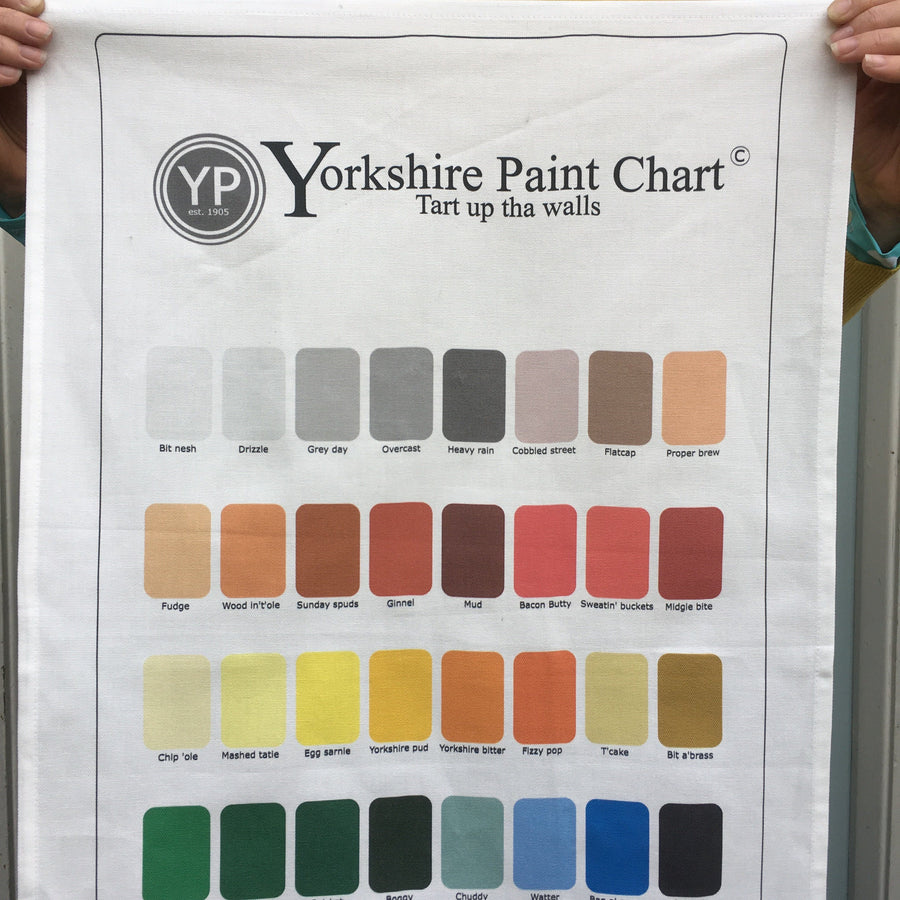 Yorkshire Tea Towel 'Paint Chart'