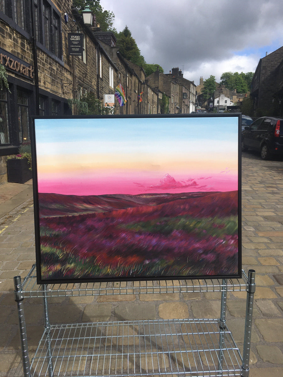 Haworth Moorlands Heather Original Artwork