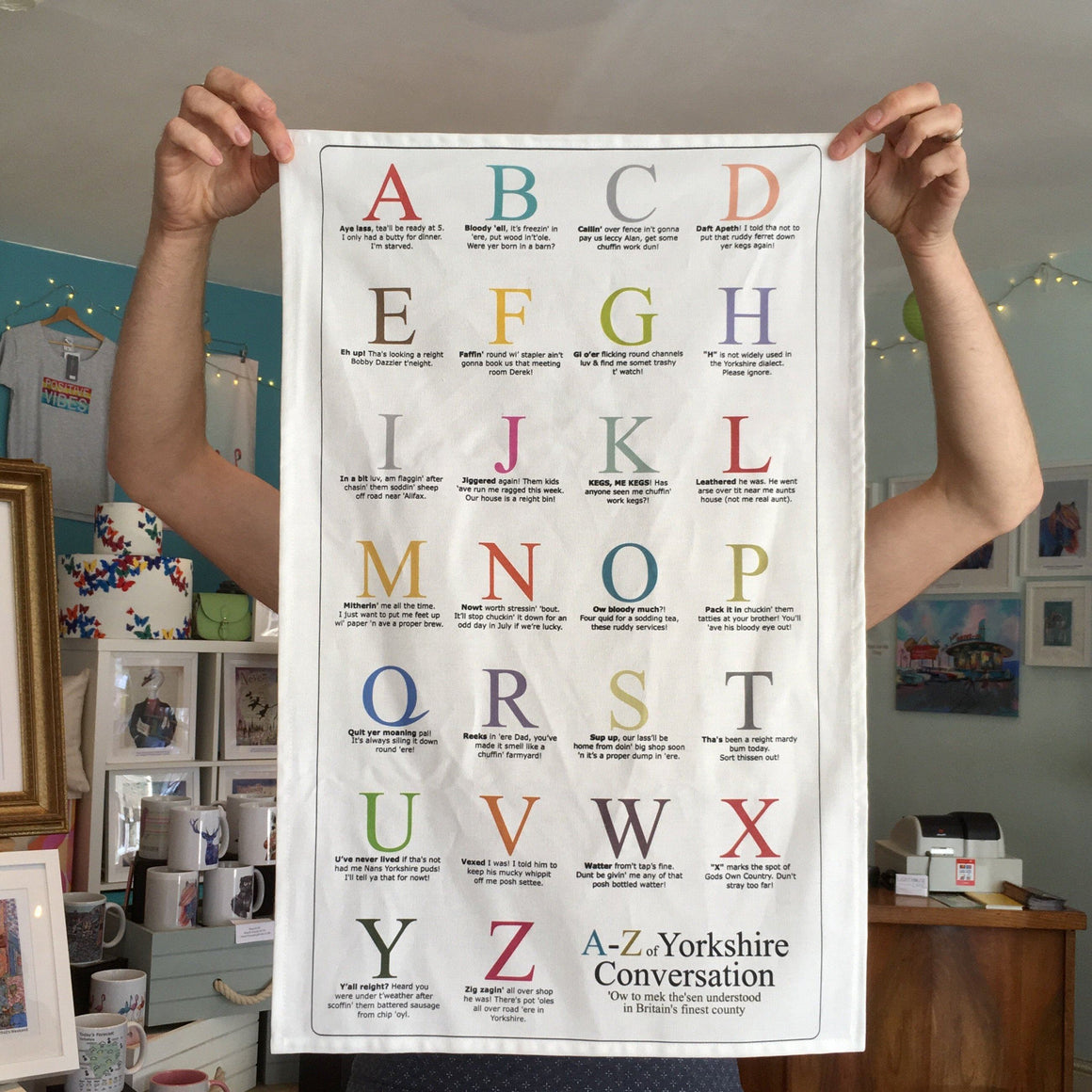 Yorkshire Tea Towel 'A to Z'