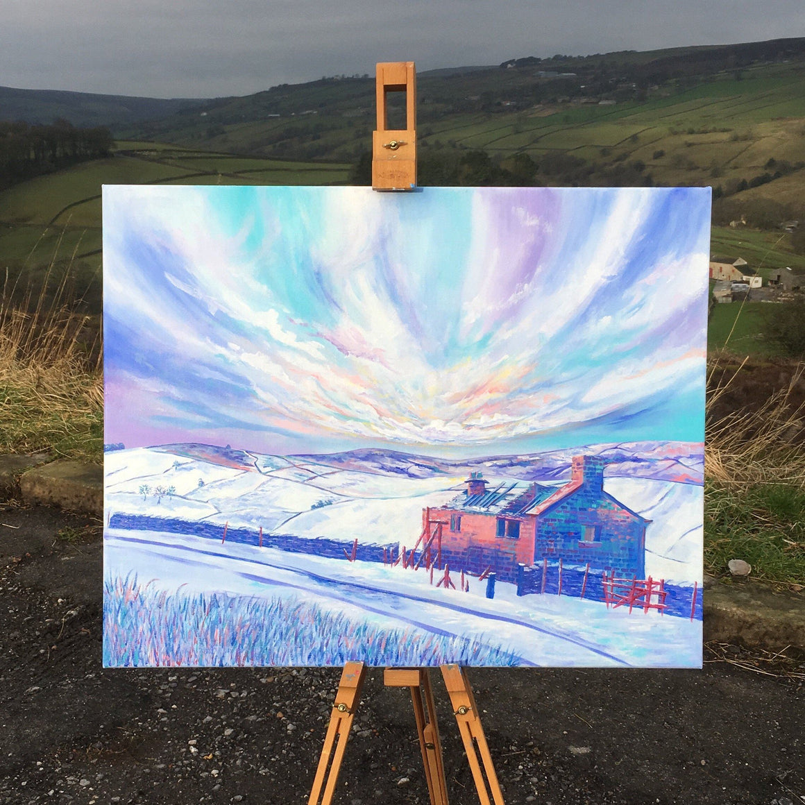 Haworth Brontë Walk Winter Original Artwork