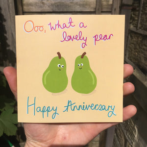 Lovely Pair Anniversary Greeting Card