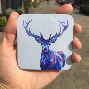 Colourful Stag Coaster