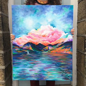 Lake District Wastwater Original Artwork