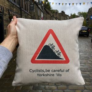 Yorkshire Cycling Funny Cushion