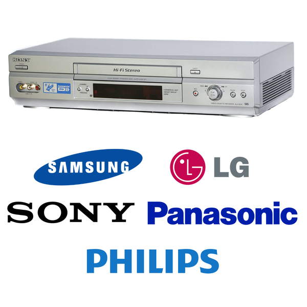 Premium Brand VCR VHS Video Player - Fully Refurbished - Scart - Short Play  & Long Play