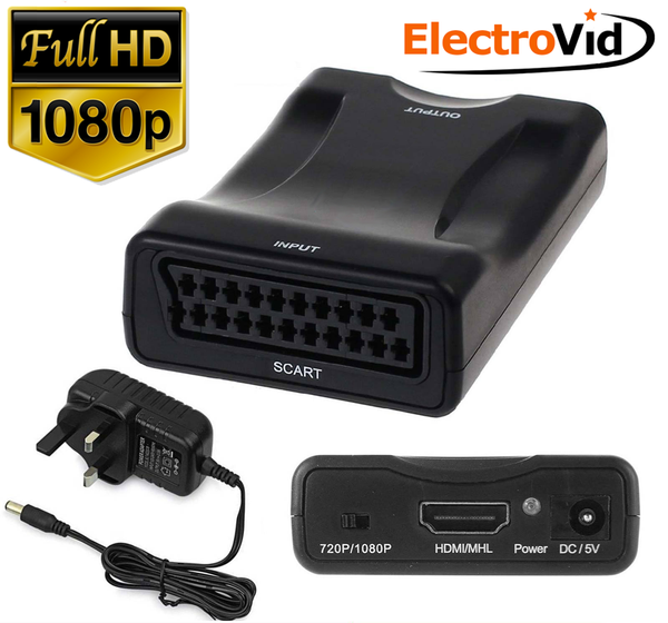 Scart to HDMI Converter - 1080P HD Ready converter - The Easy Way -  Electrovid - Electrovid