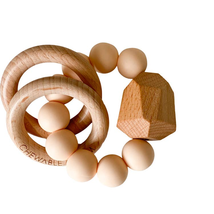 HAYES SILICONE + WOOD TEETHER TOY